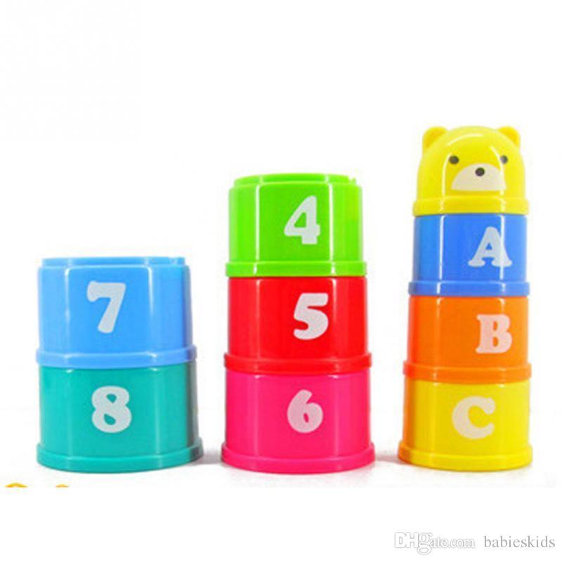 Regalo di Natale eccellente dei bambini del bambino giocattolo educativo dei bambini di nuova costruzione Puzzle Figure lettere pieghevole Coppa bambini precoce intelligenza giocattolo