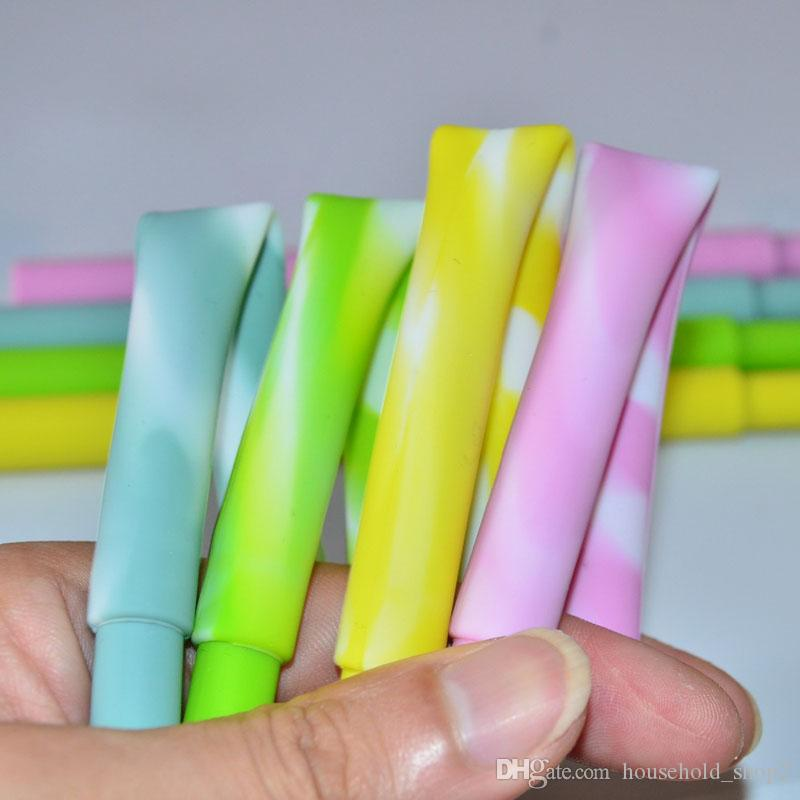 21CM silicone drinking straws detachable portable reusable straws for home bar wine glass cocktail drinking straws