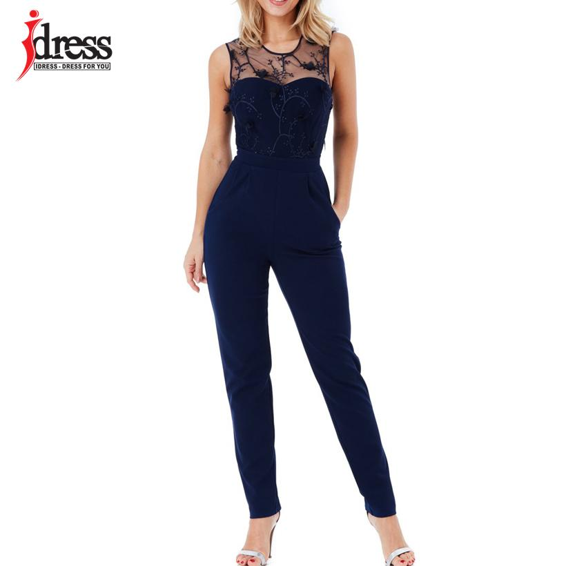 6d1b70b676e IDress Sexy Officewear Bodycon Long Pants Jumpsuit Women Spring Casual  Ladies One Piece Outfits Rompers Elegant Long Jumpsuit Jumpsuit Online with  ...