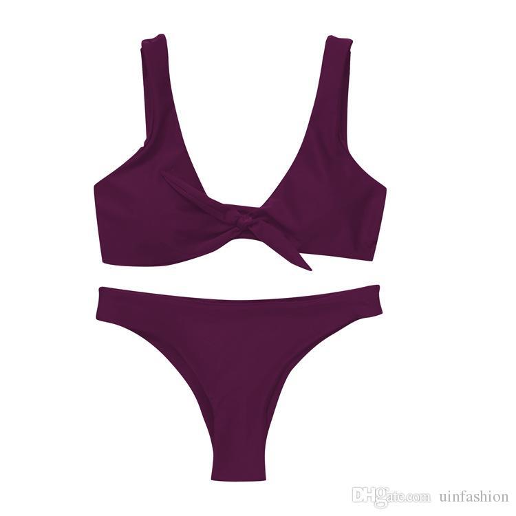Mais novo Verão Sexy Bikini Brasileiro Mulheres Swimwear Bikini Set Praia Swimsuit Push Up Maiôs Férias Surf Biquini