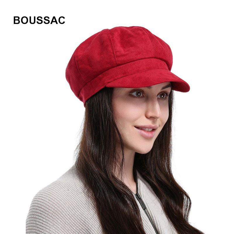 Compre 2018 Nova Moda Artista Mulheres Chapéu Boina Vermelha Para Senhoras  Cap Camurça Cap Octagonal Feminino Chapéus Chapeau Boina Macio E Confortável  De ... 2c089832e47