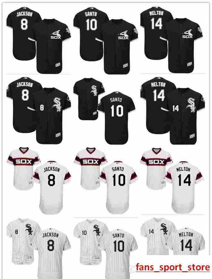 uk availability 0b325 4ddc8 2019 custom Men s women youth Majestic white Sox Jersey #10 Ron Santo 8 Bo  Jackson 14 Bill Melton Home Black Kids Girls Baseball Jersey