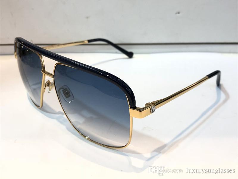 dfdc6b6c5 Compre Luxo 0860 Óculos De Sol Para Unisex Moda Quadrado De Design De Proteção  UV Lente De Revestimento Espelho Lens Cor Banhado A Moldura Vem Com Pacote  ...