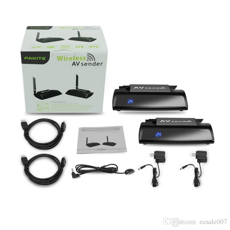 HDMI AV Sender TV Kablosuz Ses Stereo Video Verici Alıcı IR Uzaktan Ile PAT-580 5.8 GHz Uzaktan 300 M Adaptörü Uzatın