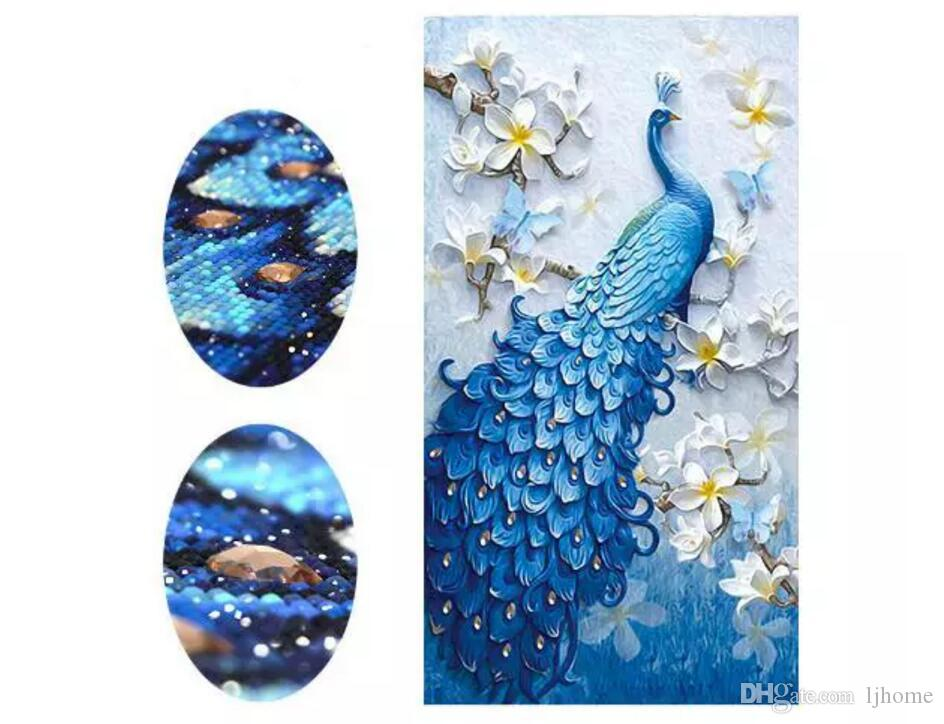 2018 stickerei Tier Pfau Voller Strass 5D DIY Diamant Malerei Kreuzstich Diamant Mosaik Decor Craft werkzeuge