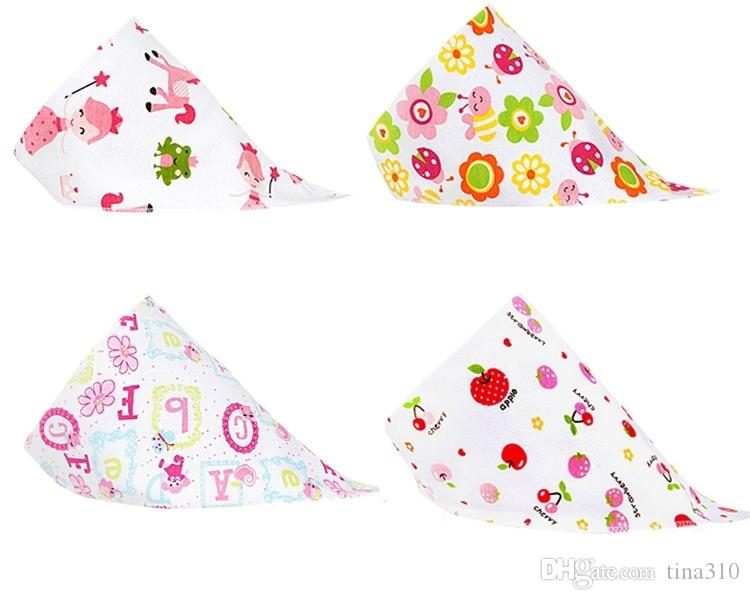 Newest Baby Bibs Towel Triangle Burp Saliva Cloths cartoon Infant Toddler Bandana Scarf Double Layers Kids Nursing Bibs I153
