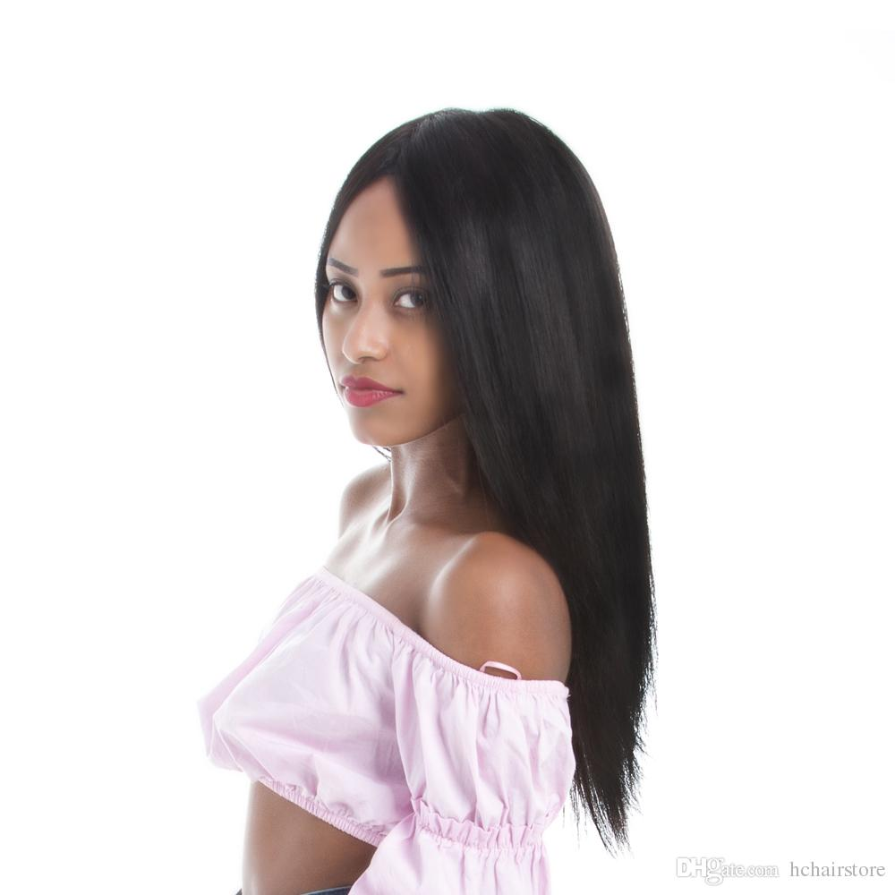 360 Lace Frontal Wig 150% Density Straight Human Hair Wigs Pre Plucked Hairline Brazilian Virgin Hair Lace Wig