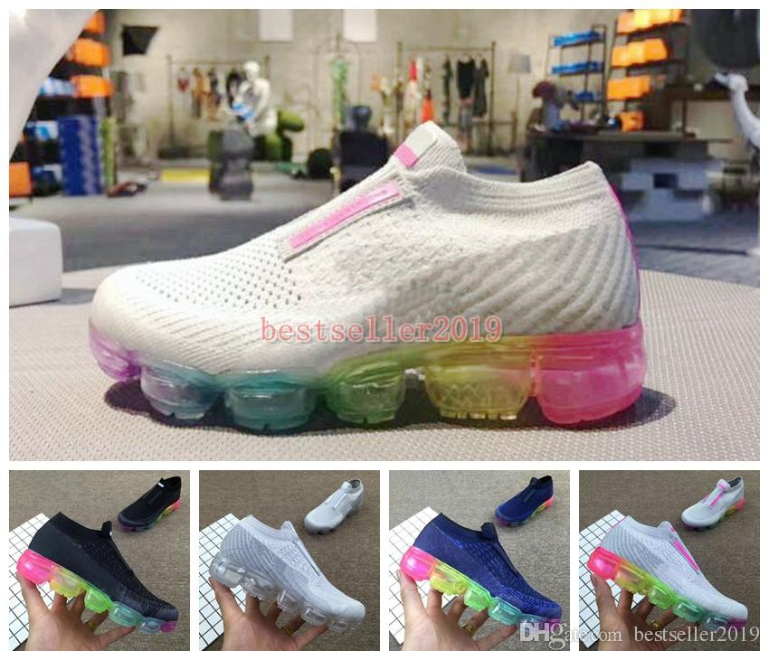 ea99f07395 Chaussures 2018 Kids Running Shoes Rainbow Be True Boys Girls Big Infant  Sports Shoes Laceless Brand Luxury Designer Sneakers Eur 28-35