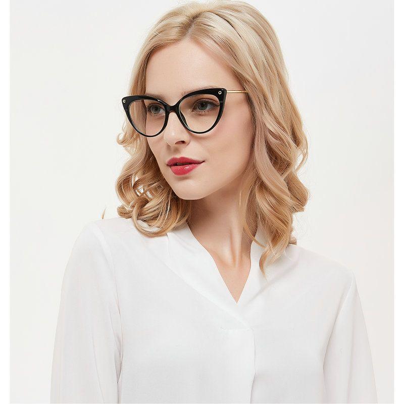 efa896b7aa3 MINCL  Cat 2018 Optical Spectacle Frame Women Computer Eye Glasses ...