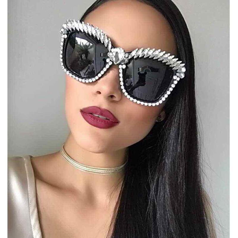 bae3ef5e360 MONIQUE Cat Eye Sunglasses Women Brand Designer Luxury Crystal Sexy  Sunglasses Rhinestone Fashion Shades Oculos De Sol Feminino Mens Eyeglasses  Sport ...