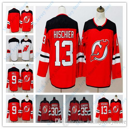 New Jersey Devils Jersey 9 Taylor Hall 13 Nico Hischier 30 Martin ... 264fda21f