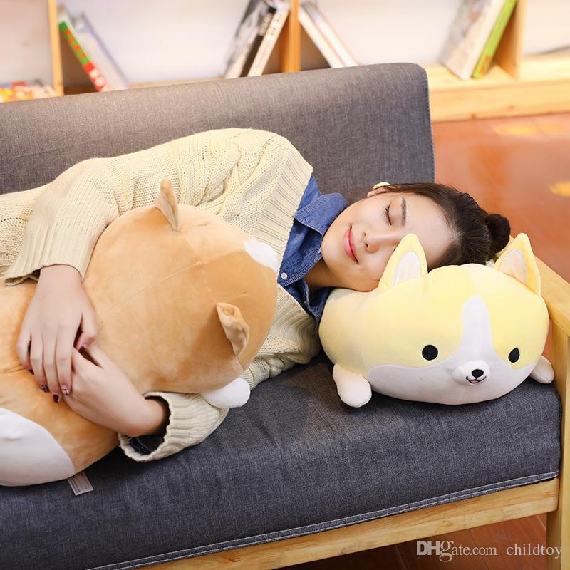 2018 new 50cm cute corgi dog plush toy stuffed soft animal cartoon pillow lovely christmas gift for kids kawaii present wholesale from childtoy