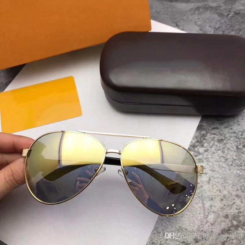 1186fa93b8 Acheter Lunettes De Soleil Pilote De Luxe Pour Hommes Concepteur De Femmes  Lunettes De Soleil Polarisées Marques Protection UV Lunettes  Surdimensionnées ...