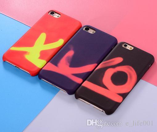 Farbwechsel Thermal Induktion Telefon Fall für iPhone 7 8 6 6 s Plus Abdeckung TPU Cover Coque Haut