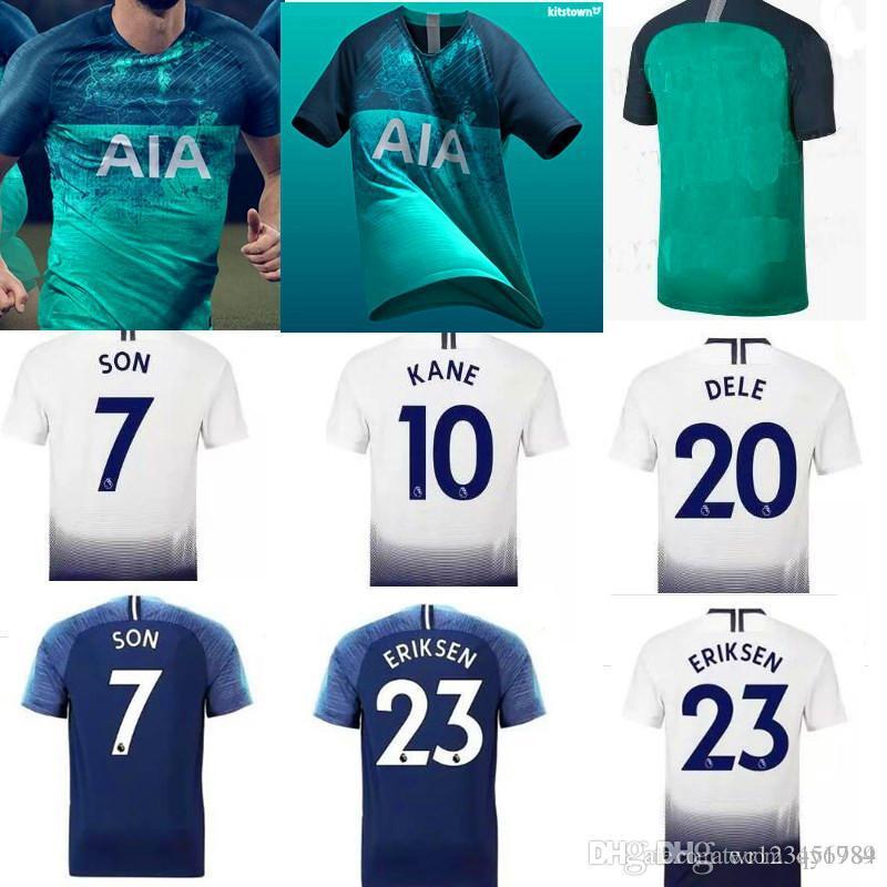 KANE Spurs Soccer Jersey 2018 2019 LAMELA ERIKSEN DELE SON Jersey 18 ... 34afff2fd