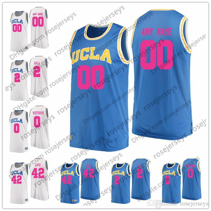 2019 Custom Ucla Bruins 2018 Mother Days Pink Jersey Blue White Ncaa