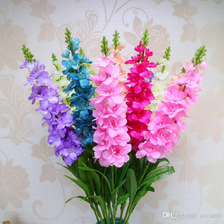 Künstliche blumen hyazinthe Delphinium Violet 9 farbe hochzeit dekorative modell gefälschte blume kopf hauptdekorationen großhandel 92 CM