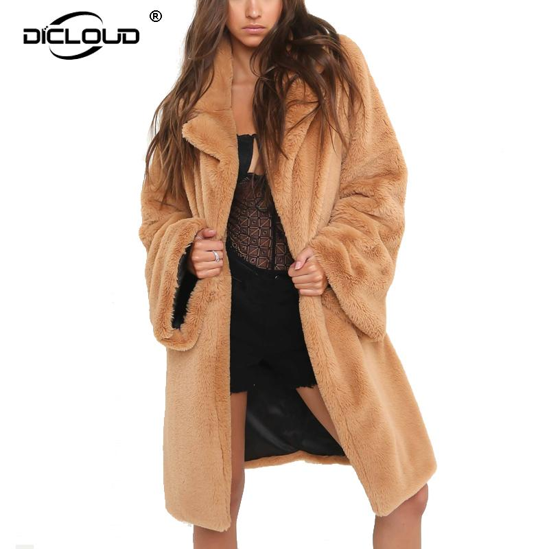 Mode Frauen Winter Jacke Frauen Pelz Langen Mantel Jacke Weiche Oberbekleidung Top Winter Warm Fluffy Mantel Produkte HeißEr Verkauf Frauen Kleidung & Zubehör