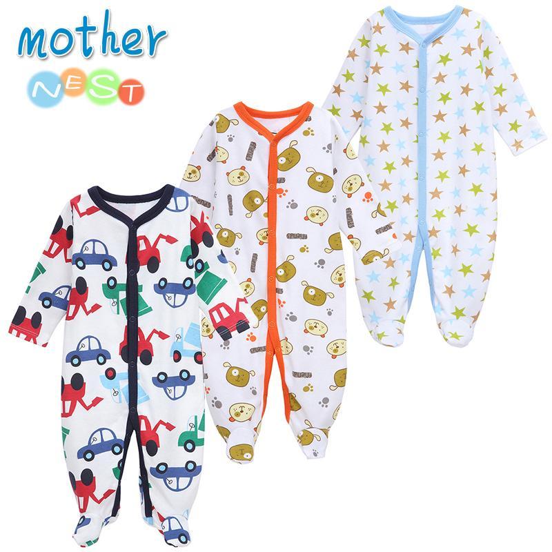 6f7e798f7c Compre Ninho Da Mãe 3 PÇS   LOTE Roupas De Bebê Menino Macacão De Bebê  Confortável Inverno Escalada Roupas De Grife Recém Nascido 0 12 M Roupas De  Bebê ...