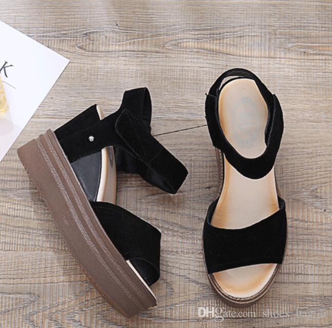 bdab8e35de8f Summer New Fish Mouth with Leather Female Sandals Fashion Casual ...