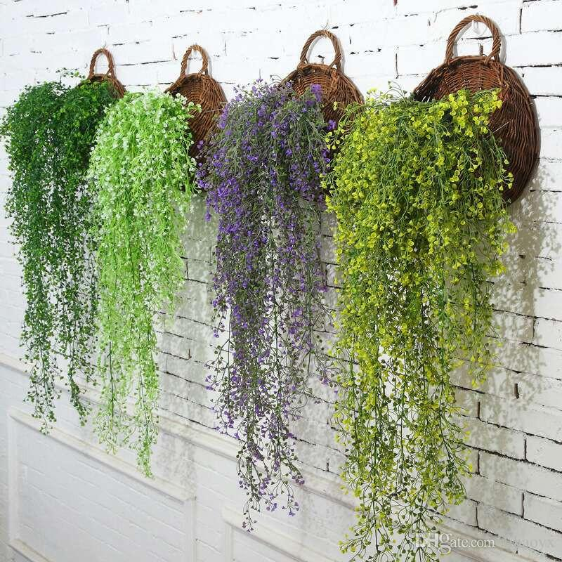 Artificial Ivy Leaf Plantas Artificiales Green Garland Plants Vine Fake Follaje Home Christmas Wedding Decoration c408