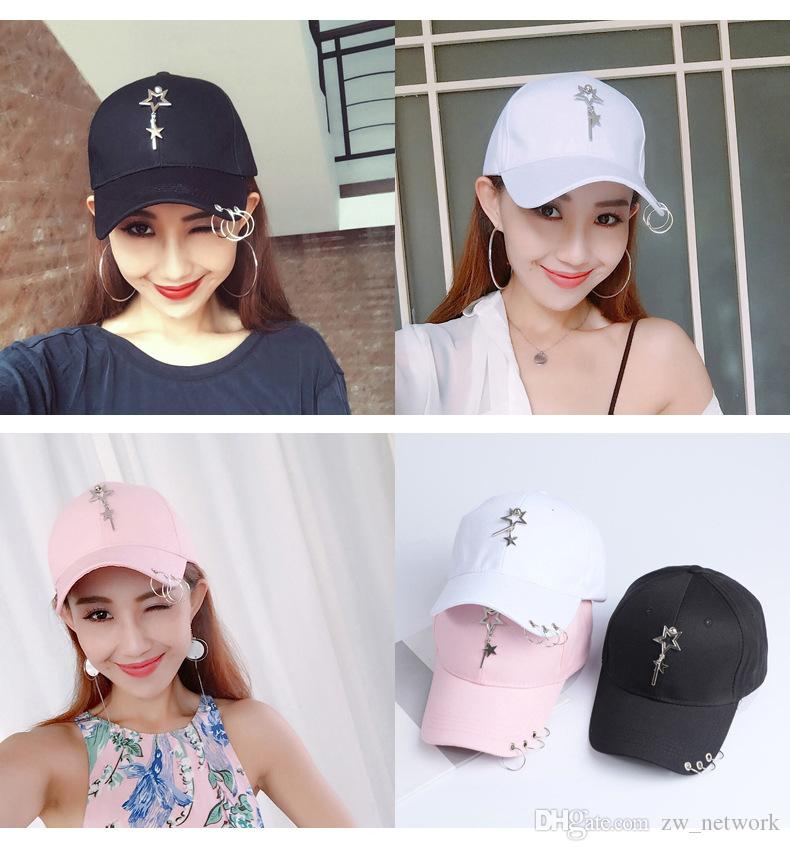 2018 Summer Fashion Casual Ball Cap With Mental Geometric Decor Solid  Snapback Baseball Caps Hats For Men Women Trendy Hip Hop Hat Big Hats Hat  Stores From ... 580b67a0a36