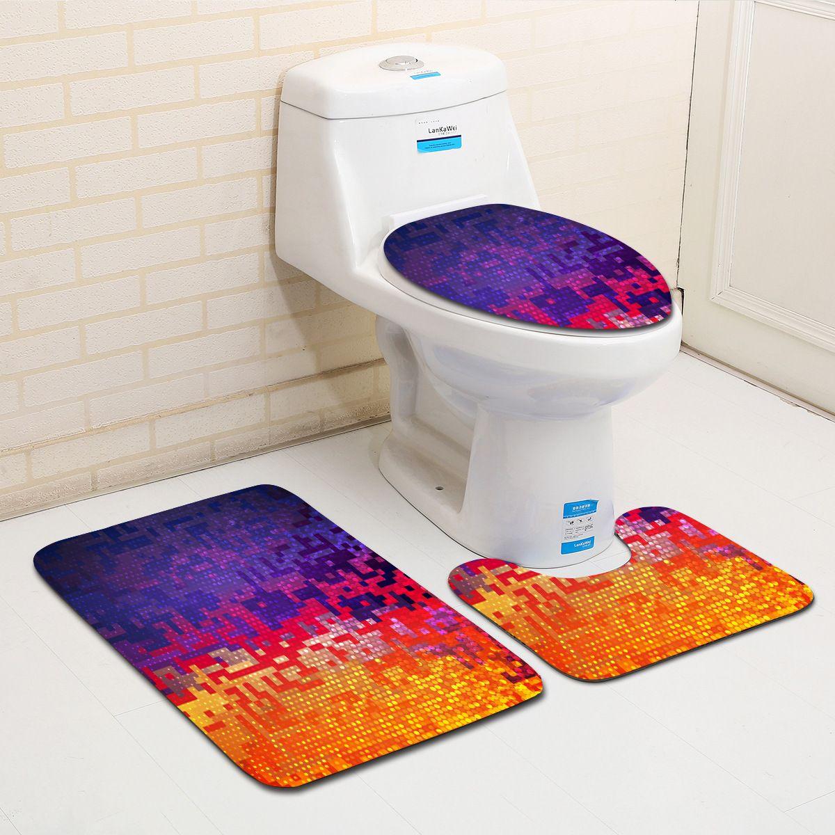 Superieur 2018 Geometric Pattern Bathroom Mat Set Modern Anti Slip Bath Mat Home  Creative Bathroom Rug And Toilet Sets From Adeir, $22.49 | Dhgate.Com