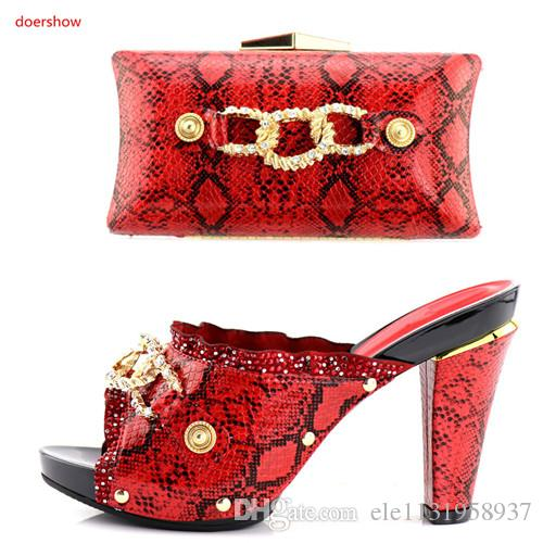 Nice-looking Italian matching shoe and bag sets for party / wedding Purple African women shoes and bag set BB-16