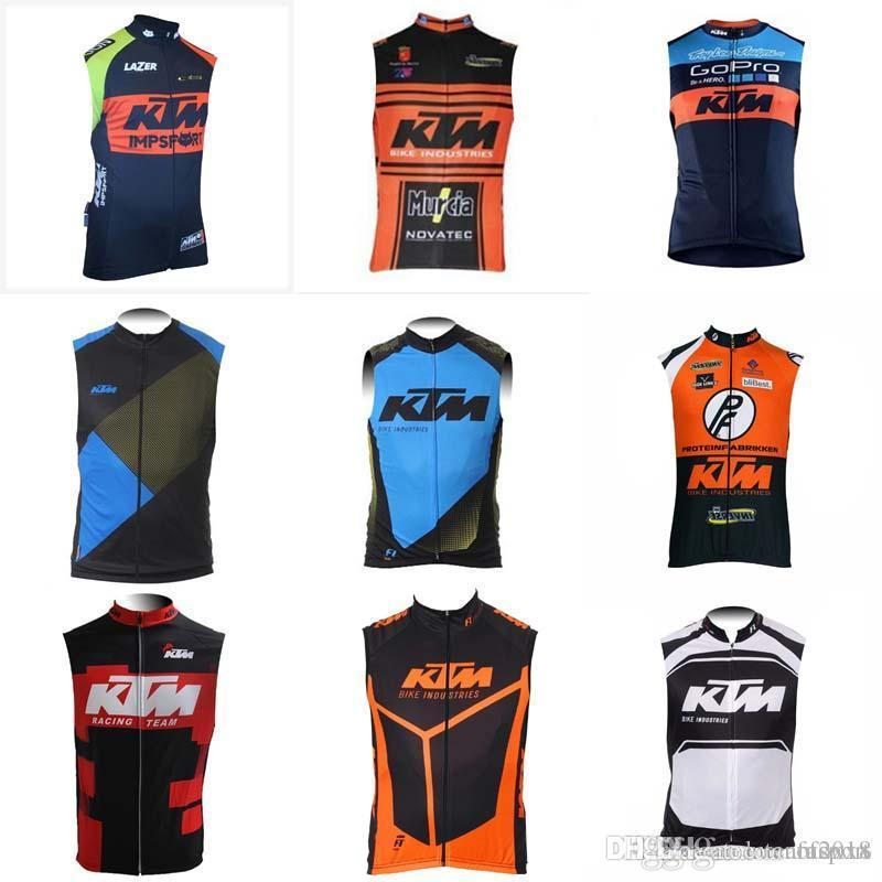 Ktm Team Cycling Sleeveless Jersey Vest Summer Men Pro Bicycle