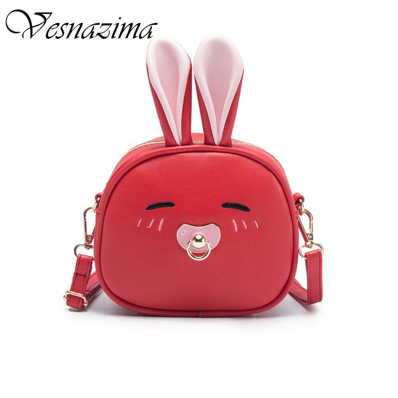 cbc4002d54098 VZ Rabbit Bag for Girls Kid's Candy Bags Cross Body Lovely Cartoon Shoulder  Bag Black Pink Black Blue White New Year Wm734yl Evening Bags Cheap Evening  Bags ...