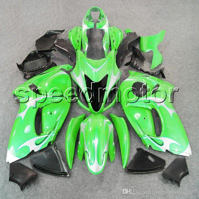 colors+Gifts Injection mold green motorcycle Fairing for Suzuki GSXR1300 2008 2009 2010 2011 2012 2013 2014 2015 2016 ABS plastic kit