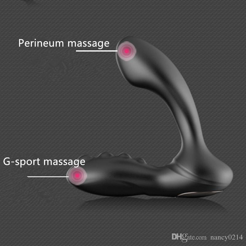 Anal Plug Male Prostate Massager Anal Vibrating G-spot Vibrator Prostate and Perineum Massage Butt Plugs Sex Toys A1-1-94
