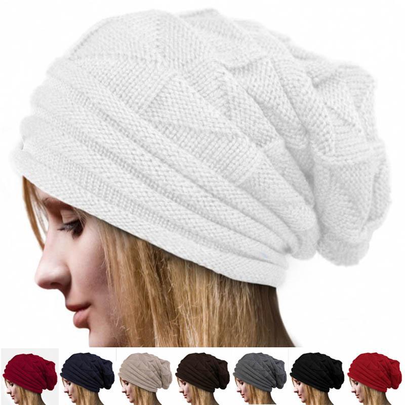75fb7b9575e Unisex Women Men Ski Knitted Crochet Beanie Baggy Winter Warm Hat Caps JL  Custom Beanies Crochet Beanie Pattern From Junemay