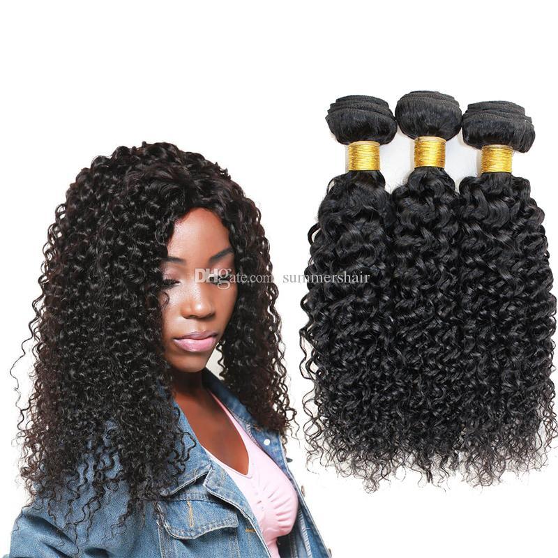 Summers Hair 8 26inch Brazilian Jerry Curl Weave Human Hair