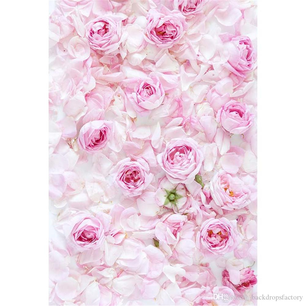2018 Pink Roses Petals Baby Shower Backdrop Vinyl New Born Photography  Props Children Girls Floral Photo Shoot Background For Studio From  Backdropsfactory, ...