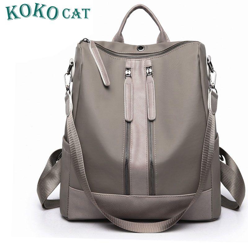f83b763b6562 2018 New Arrival Summer Women Backpacks PU College Bags For Teenage Girls  Ladies  Travel Backpack Black Gray School Bags Backpack Brands Rucksack  Backpack ...