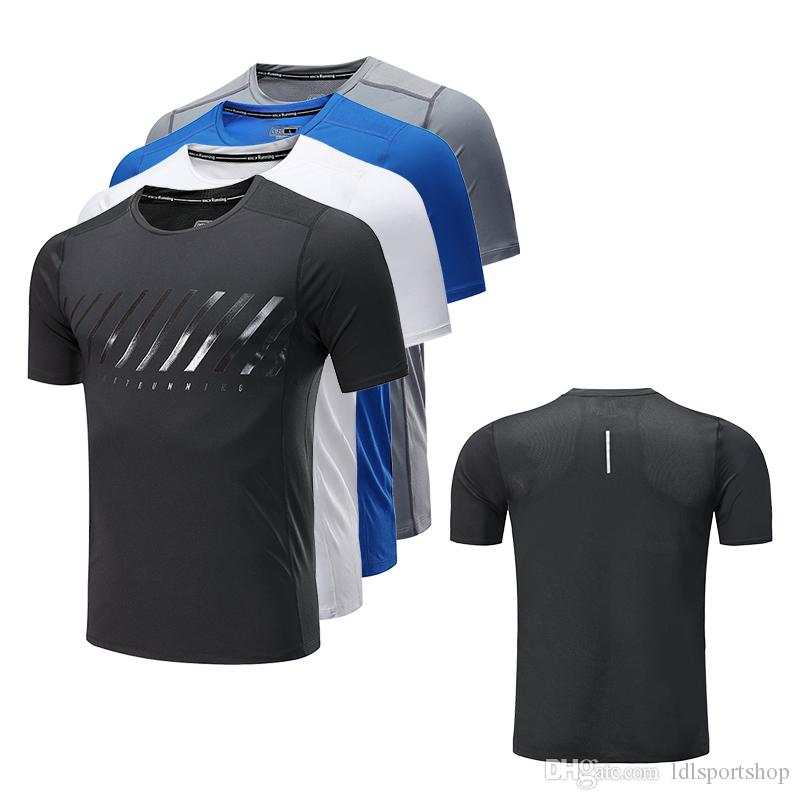 df068fea6 Fitness Shirt Short Sleeve Sport Shirt Men Quick Dry Mens Running Training  T shirt Gym Clothing Male Sportswear Tight Outdoor Sport Wear
