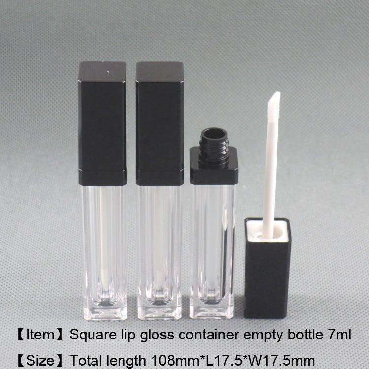 7ml Square Shape Lip Gloss Container Lip Care Gel Bottle Cosmetic