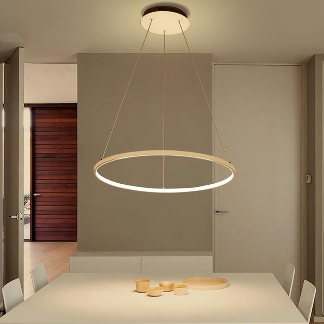 Acquista Moderne Circle Lampade A Sospensione Lampadari ...