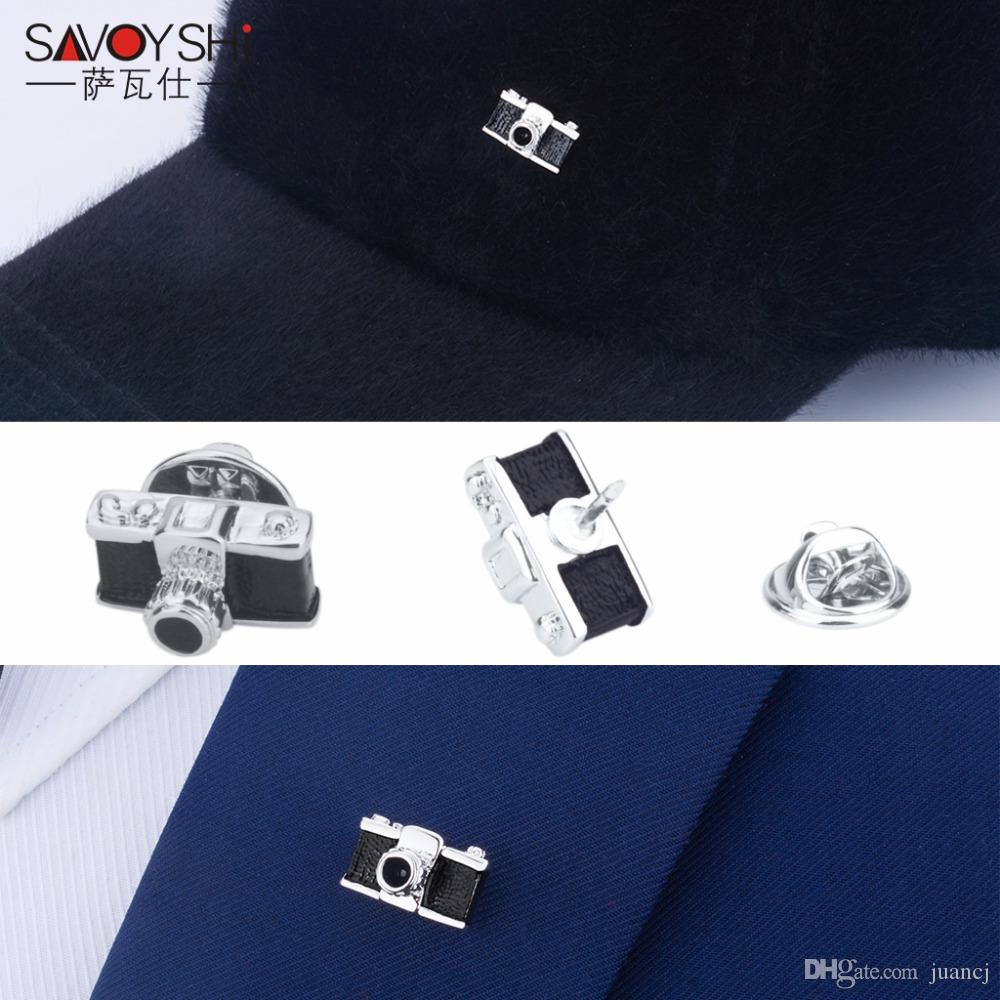 be61d864f9b 2019 SAVOYSHI Vintage Camera Shape Men Lapel Pin Brooches Pins Fine Gift  For Mens Fashion Brooches Collar Party Engagement Jewelry From Juancj, ...