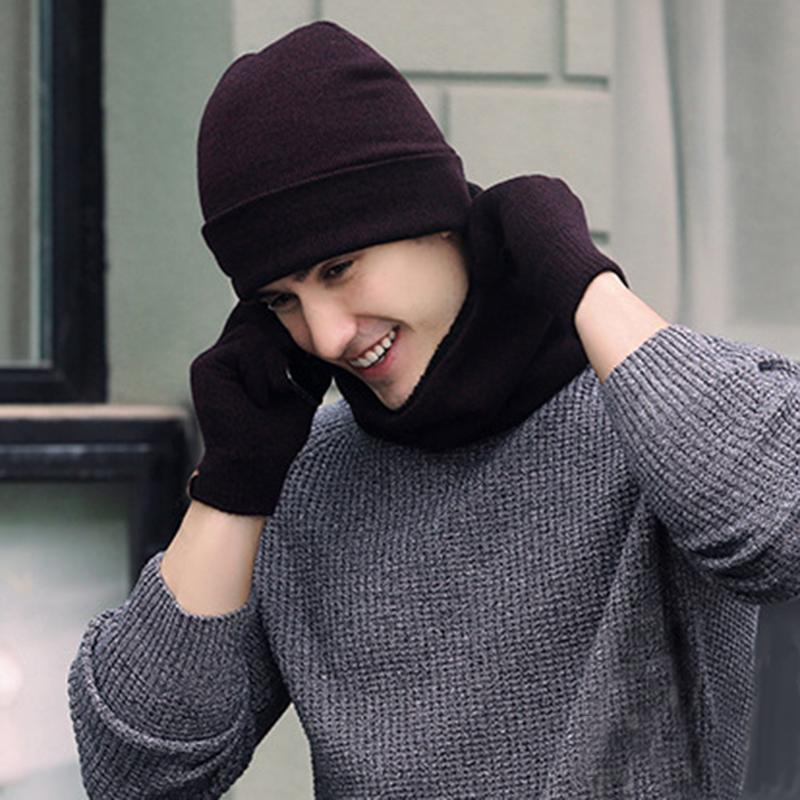 161bb8bd8f0 2019 Winter Fashion Soft Warm Casual Cap Scarves Sets Knitted Hat ...