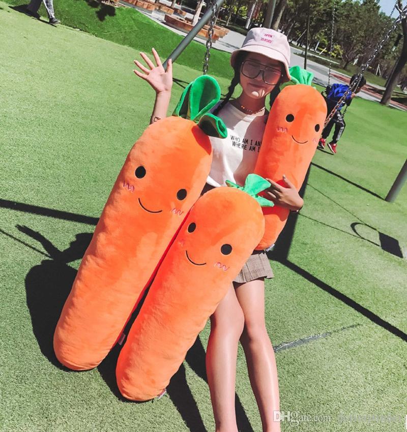 Dorimytrader Корея Каваи мягкая морковь плюшевые подушки большой прекрасный морковь Кролик игрушка оранжевый белый для любовника подарок ребенка 43 дюйма 110 см DY50220