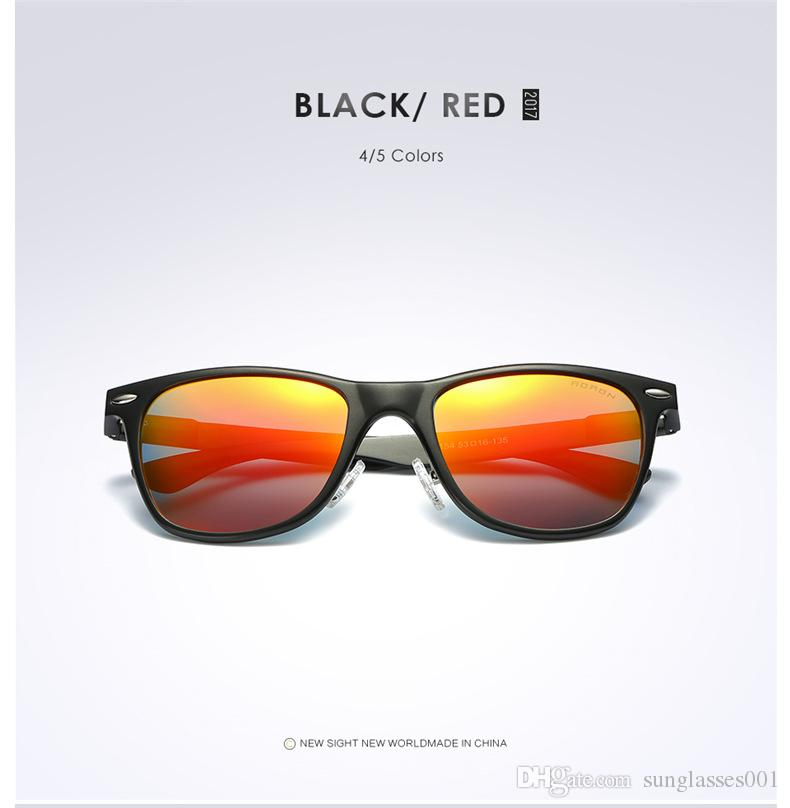 Wowforu Fashion Desinger Men Polarized Classic Retro Sunglasses Color Filter UV 400 Driving Riding Cycling Lens TAC PC Frame Sunglass 8154
