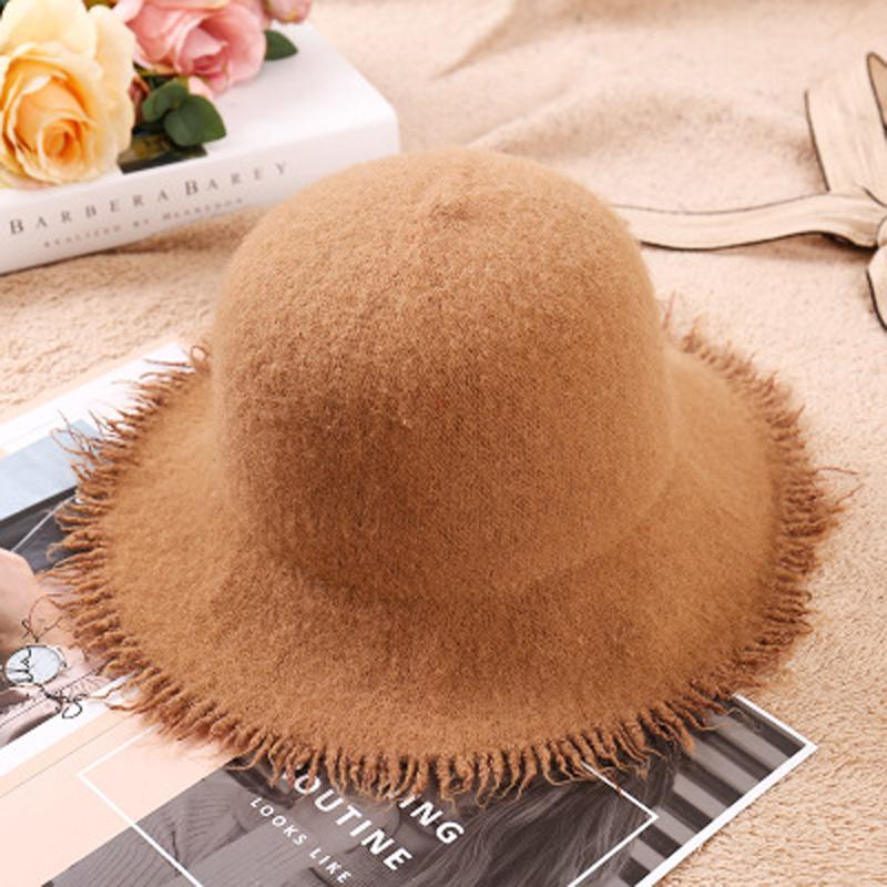 New Women Along The Sheep Wool Hat Fashion Along Shade Cap Bucket Hats  Sunscreen Folding Fisherman Hat Flat Bill Hats Beach Hat From Ancient88 6860be0113a