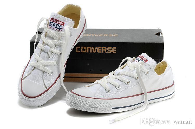 b83441182052 Women s Men s White Black Canvas Shoes Unisex Low high Classical ...