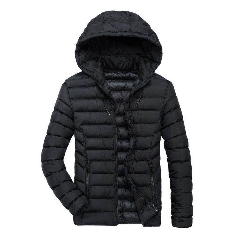 40d9ea67be3 Mens Down Parkas Winter Jackets Hooded Coat Thicken Warm Outwear Overcoat  Male Clothes 2018 XL XXL XXXL XXXXL