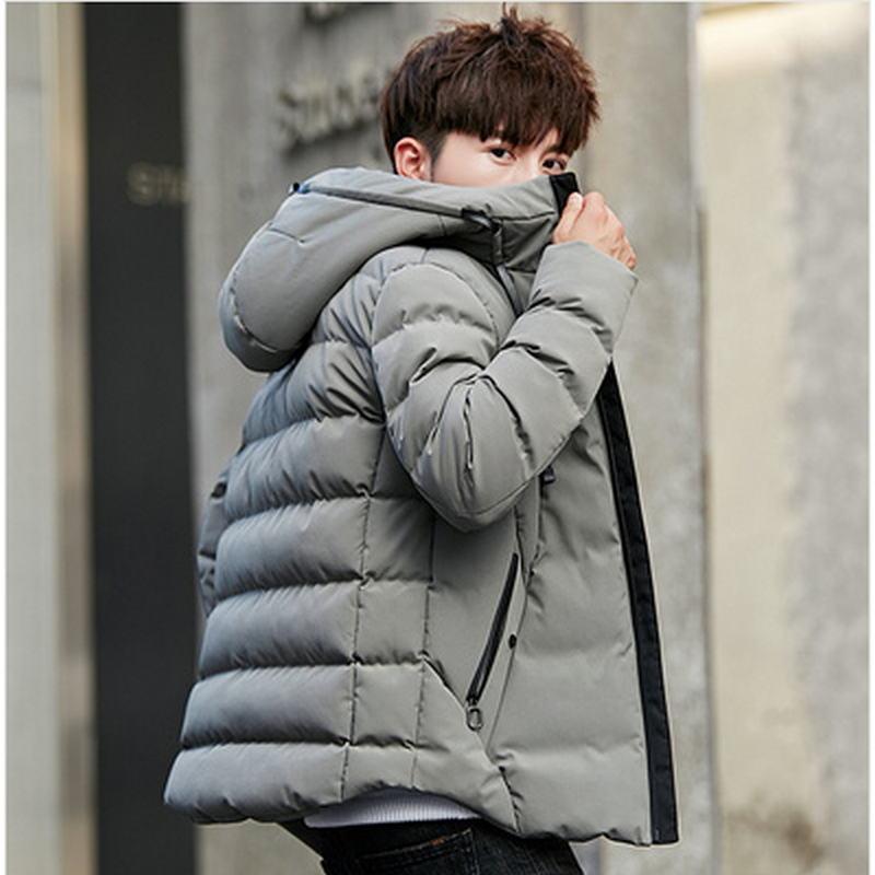 Veste D hiver Hommes Marque Parka Hommes Vêtements Zipper Coton Rembourré À Capuche Épais Quilted Vestes Manteau Hommes Hoodies