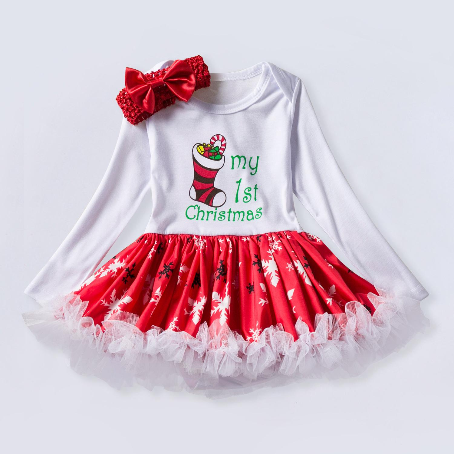 2019 year look- Christmas Infant dresses