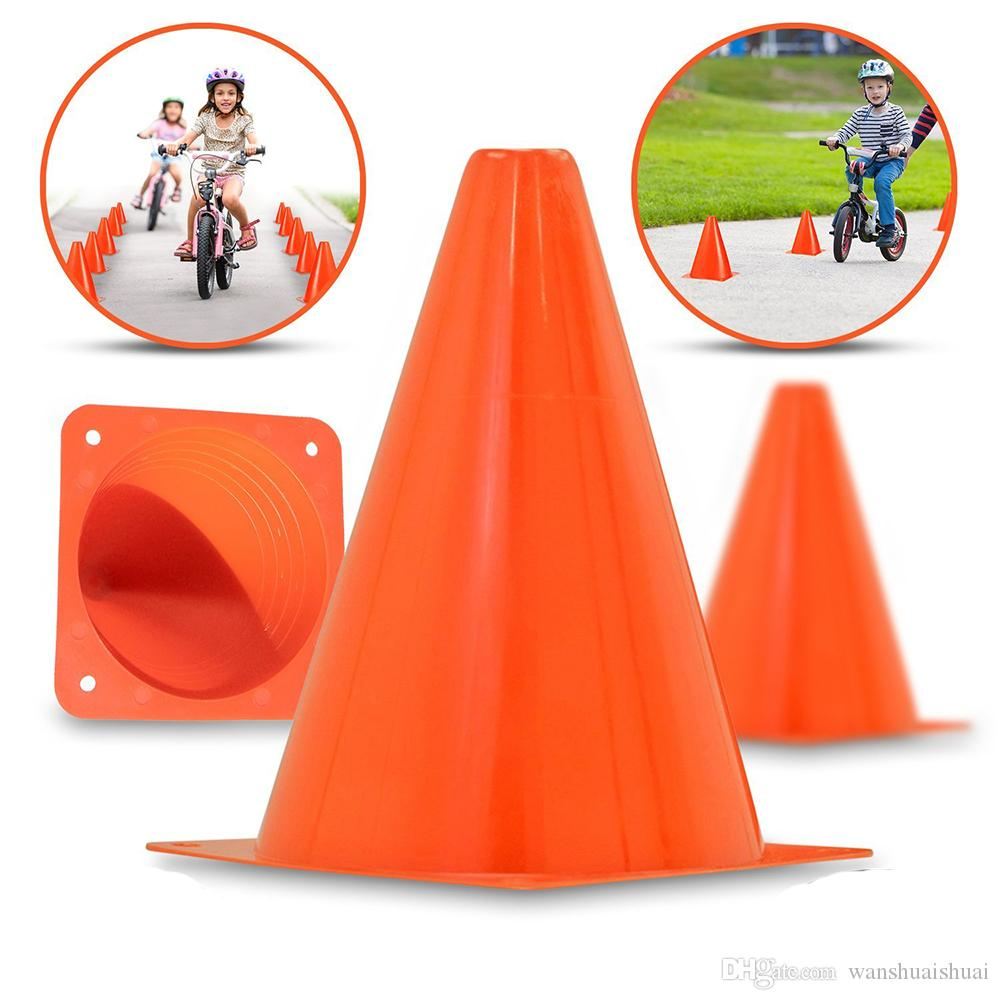 ebd9630a4 2019 18cm Traffic Agility Cones Marker Safety Soccer Football Practice Training  Marker Sports Field Orange Red Yellow Blue Green From Wanshuaishuai, ...