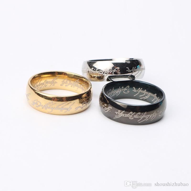 Modeschmuck Der Herr der Ringe für Männer Edelstahl Ring 3 Farben